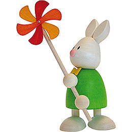 Bunny Max with wind mill  -  9cm / 3.5inch