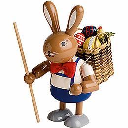 Bunny with basket  -  11cm / 4 inches