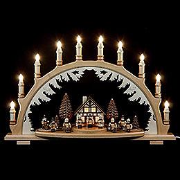 Candle Arch  -  Carolers Lanternchildren  -  67 x 42cm / 26 x 17 inch
