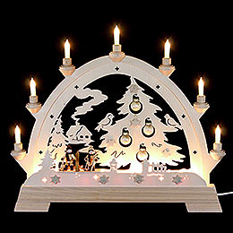 Candle Arch Christmas Tree  -  40 x 43cm / 16 x 16 inches