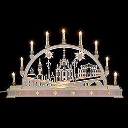Candle Arch  -  Church of Dresden with base  -  78cm x 45cm / 31 x 18 inches