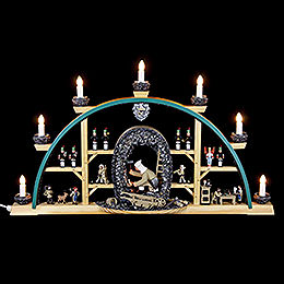 Candle Arch  -  Miner Kneeling  -  70x40cm / 27.5x15.7 inch