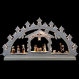 Candle Arch  -  Nativity Scene  -  72x40x5,5cm / 28x16x2 inch