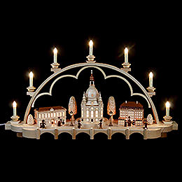 Candle Arch  -  Old Dresden  -  80cm / 31 inch  -  120 V electr. (US - standard)