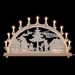 Candle Arch Santa Claus  -  68x35cm / 27x14inch