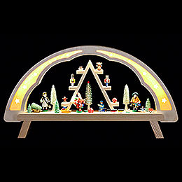 Candle arch Christmas market  -  58x31cm / 23x12inch