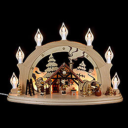Candle arch Christmas parlor  -  57x38x15cm / 22x15x6 inch