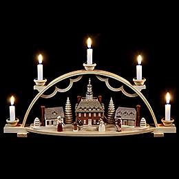 Candle arch Colonial village  -  47x11x20cm / 19x4x8 inch