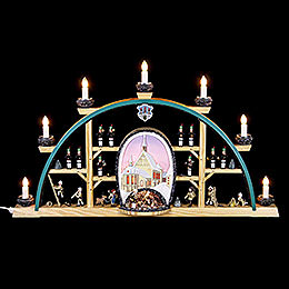 Candle arch Freiberg cathedral  -  70x40cm / 27.5x15.7inch