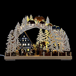 Candle archhalf timber house dreams  -  43x30cm / 17x11.8inch