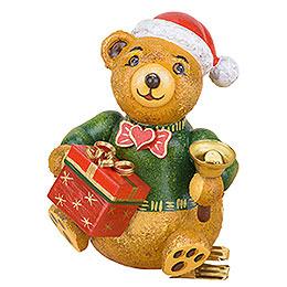 Christbaumschmuck Baumclipser Teddy Weihnachtsbärli  -  8cm