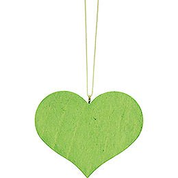 Christbaumschmuck Herz grün  -  5,7x4,5cm