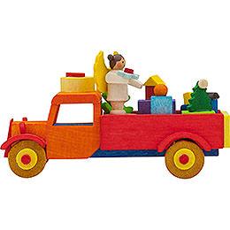Christbaumschmuck Lastwagen Engel mit Geschenken  -  7,5cm