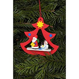 Christbaumschmuck Nikolaus im Baum  -  7,2 x 7,1cm