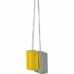 """Christbaumschmuck """"Pakete gelb/silber""""  -  4cm"""