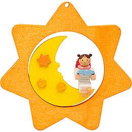 Christbaumschmuck Sternen - Mond - Engel mit Buch  -  8cm