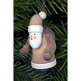 Christbaumschmuck Weihnachtsmann natur  -  2,5 x 5,0cm