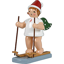 Christmas angel with hat and snow shoes  -  6,5cm / 2.5inch