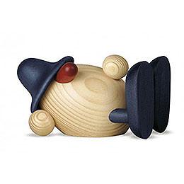 Egghead Oskar lying down, blue  -  11cm / 4.3inch