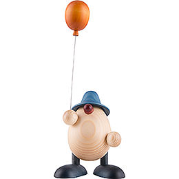 Egghead Otto with Balloon, Blue  -  11cm / 4.3 inch