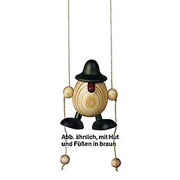 Eierkopf Arthur kletternd, braun  -  11cm