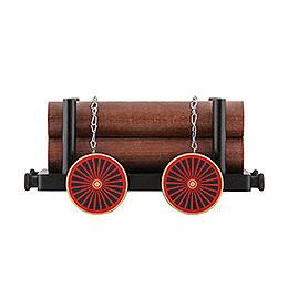 Eisenbahnwagen mit Holz 23 x 14 x 10cm