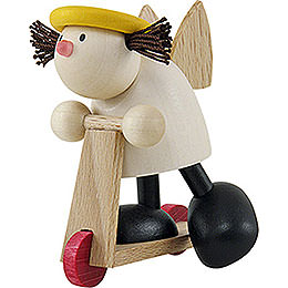 Engel Lotte auf Roller  -  7cm