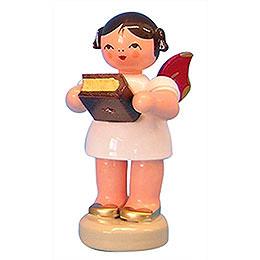 Engel mit Bibel  -  Rote Flügel  -  stehend  -  6cm