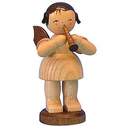 Engel mit Flöte  -  natur  -  stehend  -  9,5cm