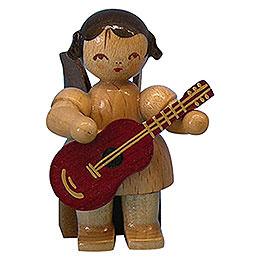 Engel mit Gitarre  -  natur  -  sitzend  -  5cm