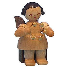 Engel mit Schellenring  -  natur  -  sitzend  -  5cm