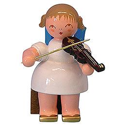 Engel mit Violine  -  Blaue Fl�gel  -  sitzend  -  5cm