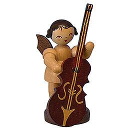 Engel mit Zupfbass  -  natur  -  stehend  -  6cm