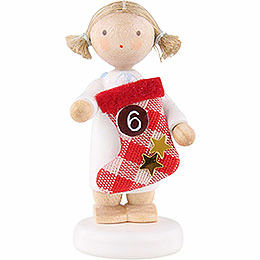 Flax haired angel with boot (6)  -  5cm