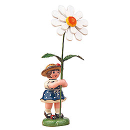 Flower Girl with Daisy  -  11cm / 4,3 inch
