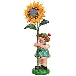 Flower Girl with Sunflower  -  11cm / 4,3 inch