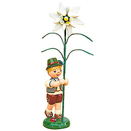 Flower child boy with Precious white   -  11cm / 4,3inch