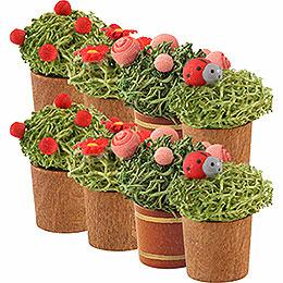 Flower pot, 8 Stück  -  3cm / 1.1inch