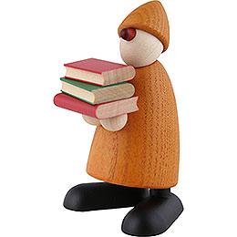 Gratulant Billy mit Büchern, gelb  -  9cm