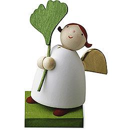 Guardian Angel with Gingko Leaf  -  3,5cm / 1.3 inch