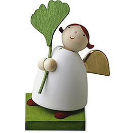 Guardian angel with gingko leaf  -  3,5cm / 1.3inch