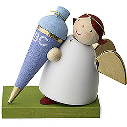 Guardian angel with sweet cornet  -  boy  -  3,5cm / 1.3inch