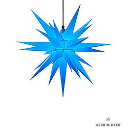 Herrnhuter Moravian Star A7 Blue Plastic  -  68cm/27 inch