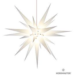Herrnhuter Moravian Star I8 White Paper  -  80cm/31 inch