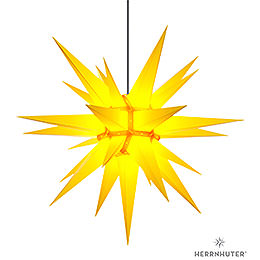 Herrnhuter Moravian star A13 yellow plastic  -  130cm/51inch
