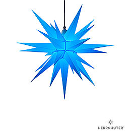 Herrnhuter Moravian star A7 blue plastic  -  68cm/27inch