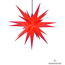 Herrnhuter Moravian star A7 red plastic  -  68cm/27inch