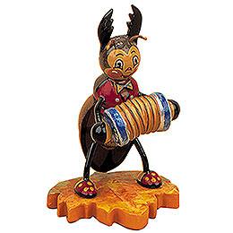 Hirschk�fer mit Ziehharmonika  -  8cm