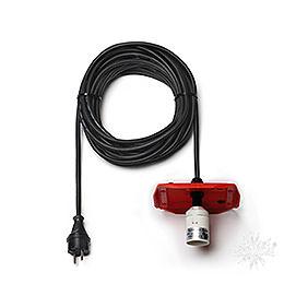 Kabel f�r Aussenstern 29 - 00 - A13, 10m schwarz, Deckel rot, EU