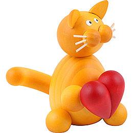 Katze Emmi mit Herz  -  8cm